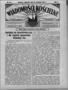 Wiadomości Kościelne : (gazeta kościelna) : dla parafij dekanatu chełmżyńskiego 1931, R. 3, nr 15