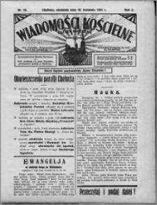 Wiadomości Kościelne : (gazeta kościelna) : dla parafij dekanatu chełmżyńskiego 1931, R. 3, nr 16