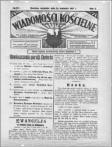Wiadomości Kościelne : (gazeta kościelna) : dla parafij dekanatu chełmżyńskiego 1931, R. 3, nr 17