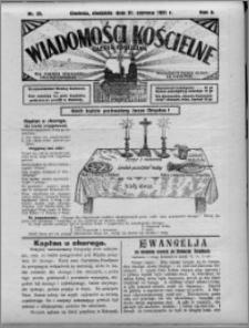 Wiadomości Kościelne : (gazeta kościelna) : dla parafij dekanatu chełmżyńskiego 1931, R. 3, nr 25