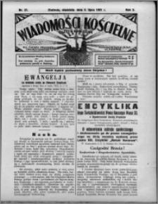 Wiadomości Kościelne : (gazeta kościelna) : dla parafij dekanatu chełmżyńskiego 1931, R. 3, nr 27