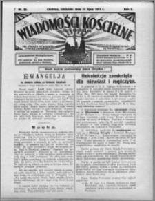 Wiadomości Kościelne : (gazeta kościelna) : dla parafij dekanatu chełmżyńskiego 1931, R. 3, nr 28