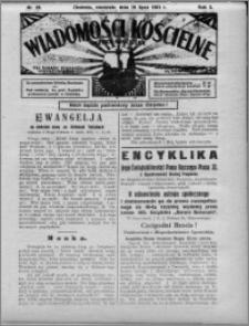 Wiadomości Kościelne : (gazeta kościelna) : dla parafij dekanatu chełmżyńskiego 1931, R. 3, nr 29