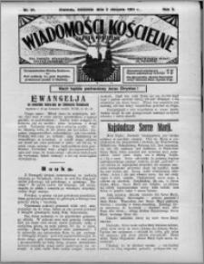 Wiadomości Kościelne : (gazeta kościelna) : dla parafij dekanatu chełmżyńskiego 1931, R. 3, nr 31