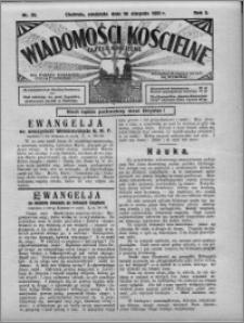 Wiadomości Kościelne : (gazeta kościelna) : dla parafij dekanatu chełmżyńskiego 1931, R. 3, nr 33