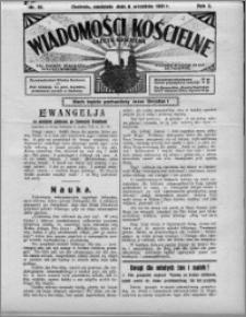 Wiadomości Kościelne : (gazeta kościelna) : dla parafij dekanatu chełmżyńskiego 1931, R. 3, nr 36