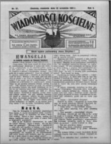 Wiadomości Kościelne : (gazeta kościelna) : dla parafij dekanatu chełmżyńskiego 1931, R. 3, nr 37