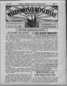 Wiadomości Kościelne : (gazeta kościelna) : dla parafij dekanatu chełmżyńskiego 1931, R. 3, nr 39