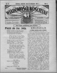 Wiadomości Kościelne : (gazeta kościelna) : dla parafij dekanatu chełmżyńskiego 1931, R. 3, nr 47