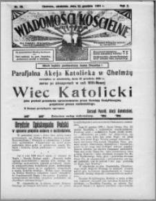Wiadomości Kościelne : (gazeta kościelna) : dla parafij dekanatu chełmżyńskiego 1931, R. 3, nr 50