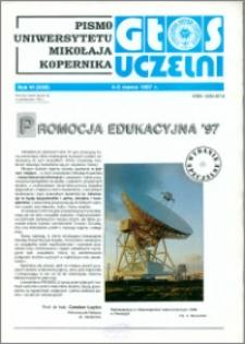 Głos Uczelni : pismo Uniwersytetu Mikołaja Kopernika R. 6=22 wydanie specjalne 4-5 marca (1997)