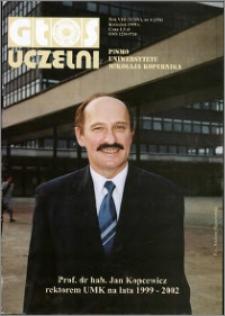 Głos Uczelni : pismo Uniwersytetu Mikołaja Kopernika R. 8=24 nr 4 (1999)