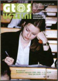 Głos Uczelni : pismo Uniwersytetu Mikołaja Kopernika R. 11=27 nr 7/8 (2002)