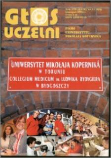 Głos Uczelni : pismo Uniwersytetu Mikołaja Kopernika R. 13=29 nr 11 (2004)