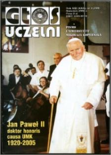 Głos Uczelni : pismo Uniwersytetu Mikołaja Kopernika R. 14=30 nr 4 (2005)