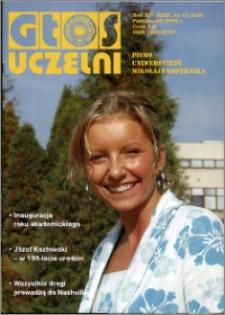 Głos Uczelni : pismo Uniwersytetu Mikołaja Kopernika R. 14=30 nr 10 (2005)