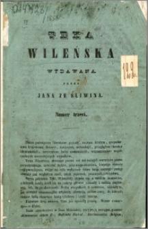 Teka Wileńska : wydawana przez Jana ze Śliwina 1858 nr 3