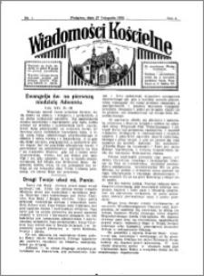 Wiadomości Kościelne : przy kościele w Podgórzu 1932-1933, R. 4, nr 1