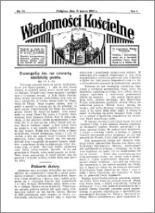 Wiadomości Kościelne : przy kościele w Podgórzu 1933-1934, R. 5, nr 15