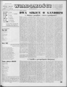 Wiadomości, R. 22 nr 27 (1109), 1967