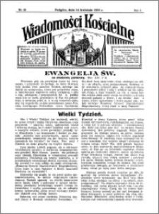 Wiadomości Kościelne : przy kościele w Podgórzu 1934-1935, R. 6, nr 20