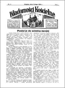 Wiadomości Kościelne : przy kościele w Podgórzu 1935-1936, R. 7, nr 11