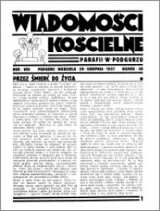 Wiadomości Kościelne : przy kościele w Podgórzu 1936-1937, R. 8, nr 40