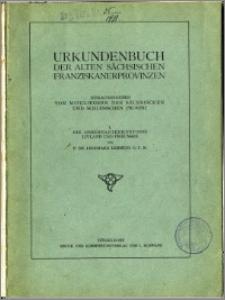 Urkundenbuch der alten sächsischen Franziskanerprovinzen. I Die Observantenkustodie Livland und Preussen