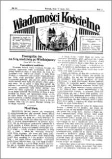 Wiadomości Kościelne : przy kościele św. Jakóba 1930-1931, R. 2, nr 24