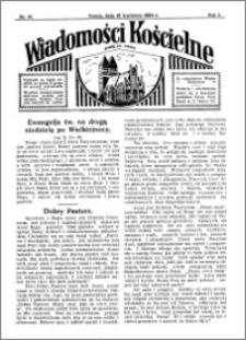 Wiadomości Kościelne : przy kościele św. Jakóba 1933-1934, R. 5, nr 20