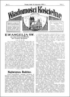 Wiadomości Kościelne : przy kościele św. Jakóba 1934-1935, R. 6, nr 7