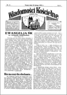 Wiadomości Kościelne : przy kościele św. Jakóba 1934-1935, R. 6, nr 13