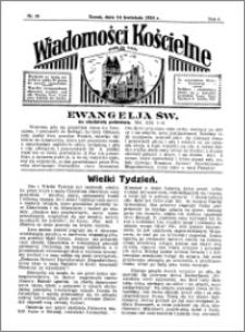 Wiadomości Kościelne : przy kościele św. Jakóba 1934-1935, R. 6, nr 20