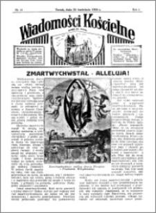 Wiadomości Kościelne : przy kościele św. Jakóba 1934-1935, R. 6, nr 21