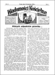 Wiadomości Kościelne : przy kościele św. Jakóba 1934-1935, R. 6, nr 22