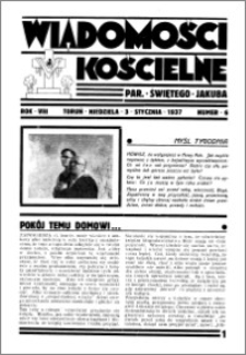 Wiadomości Kościelne : przy kościele św. Jakóba 1936-1937, R. 8, nr 6