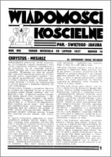 Wiadomości Kościelne : przy kościele św. Jakóba 1936-1937, R. 8, nr 14