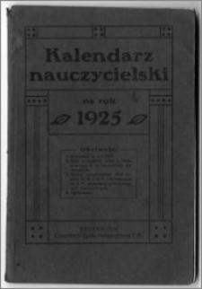Kalendarz Nauczycielski na Rok 1925