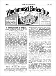 Wiadomości Kościelne : przy kościele Toruń-Mokre 1929-1930, R. 1, nr 40
