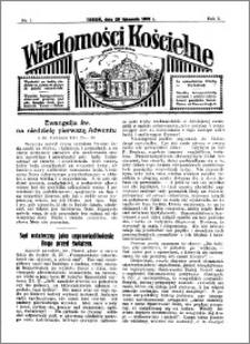 Wiadomości Kościelne : przy kościele Toruń-Mokre 1931-1932, R. 3, nr 1