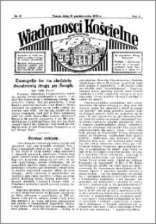 Wiadomości Kościelne : przy kościele Toruń-Mokre 1931-1932, R. 3, nr 47