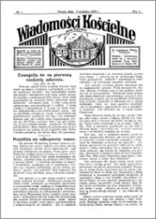 Wiadomości Kościelne : przy kościele Toruń-Mokre 1933-1934, R. 5, nr 1