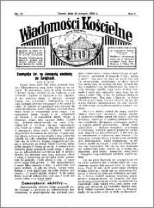 Wiadomości Kościelne : przy kościele Toruń-Mokre 1933-1934, R. 5, nr 37