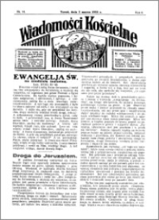 Wiadomości Kościelne : przy kościele Toruń-Mokre 1934-1935, R. 6, nr 14