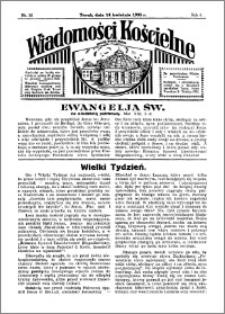 Wiadomości Kościelne : przy kościele Toruń-Mokre 1934-1935, R. 6, nr 20