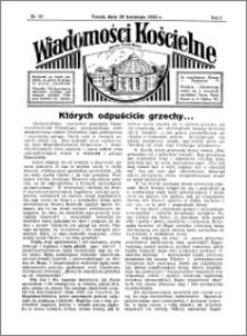 Wiadomości Kościelne : przy kościele Toruń-Mokre 1934-1935, R. 6, nr 22