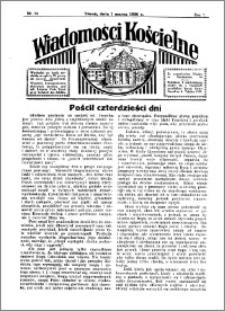 Wiadomości Kościelne : przy kościele Toruń-Mokre 1935-1936, R. 7, nr 14