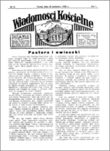 Wiadomości Kościelne : przy kościele Toruń-Mokre 1935-1936, R. 7, nr 22