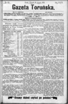 Gazeta Toruńska 1893, Sierpień