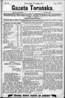 Gazeta Toruńska 1894, R. 28 nr 84